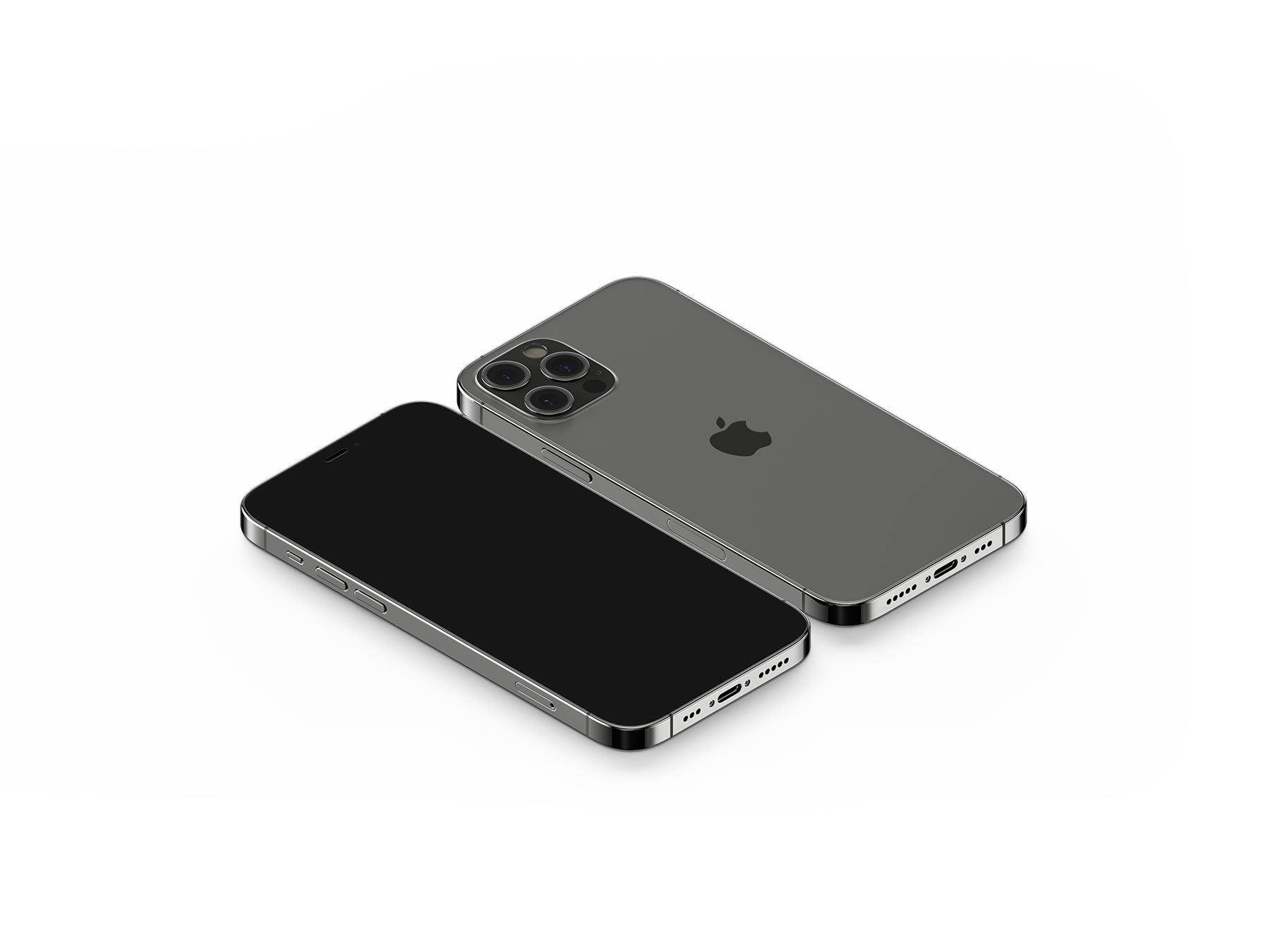 Free iPhone 12 Pro (front & back) Mockup