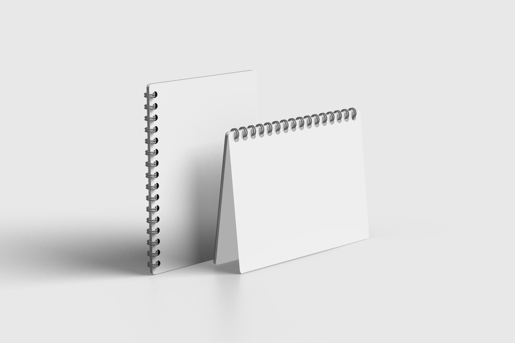 Free A5 Spiral Notebooks Mockup