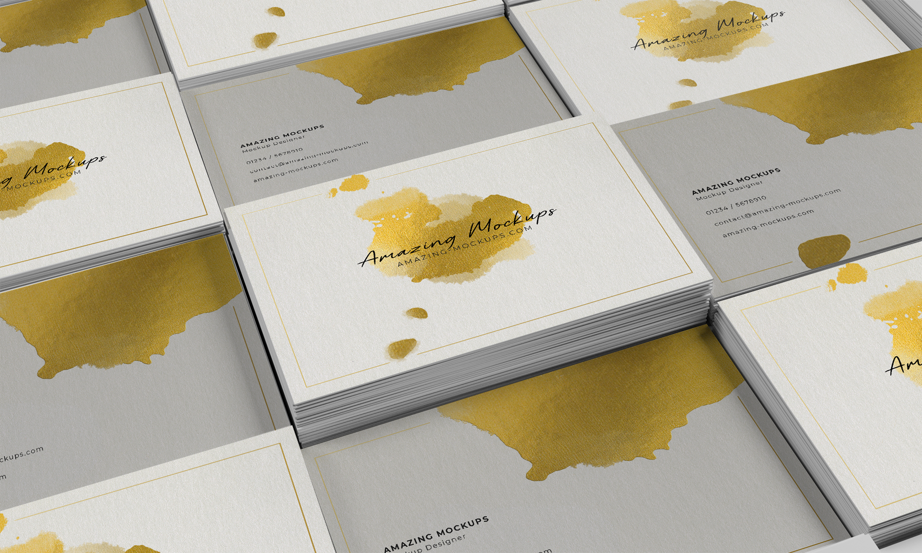 Free Business Cards Showcasing Mockup