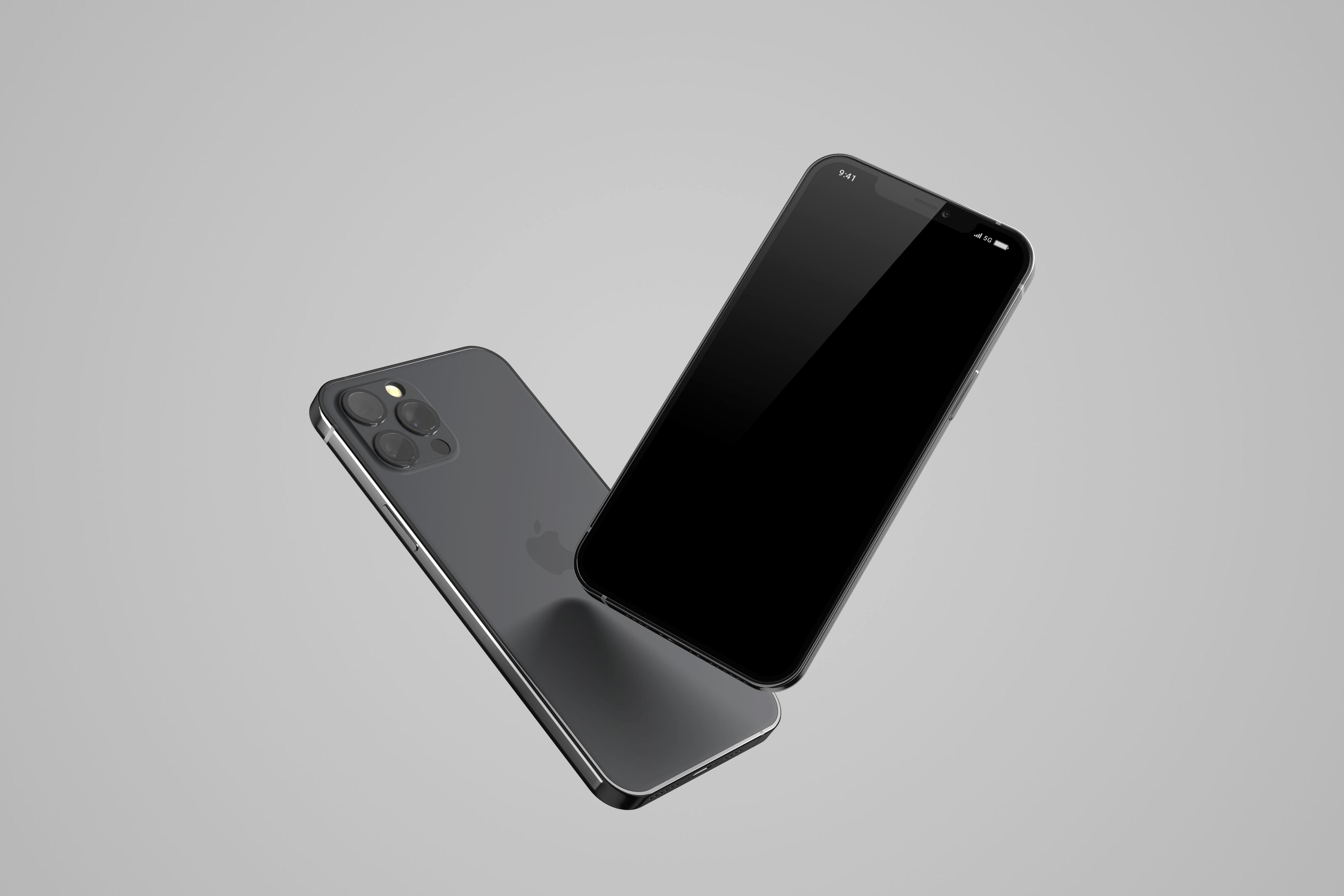 Free Floating iPhone 12 Mockup 2