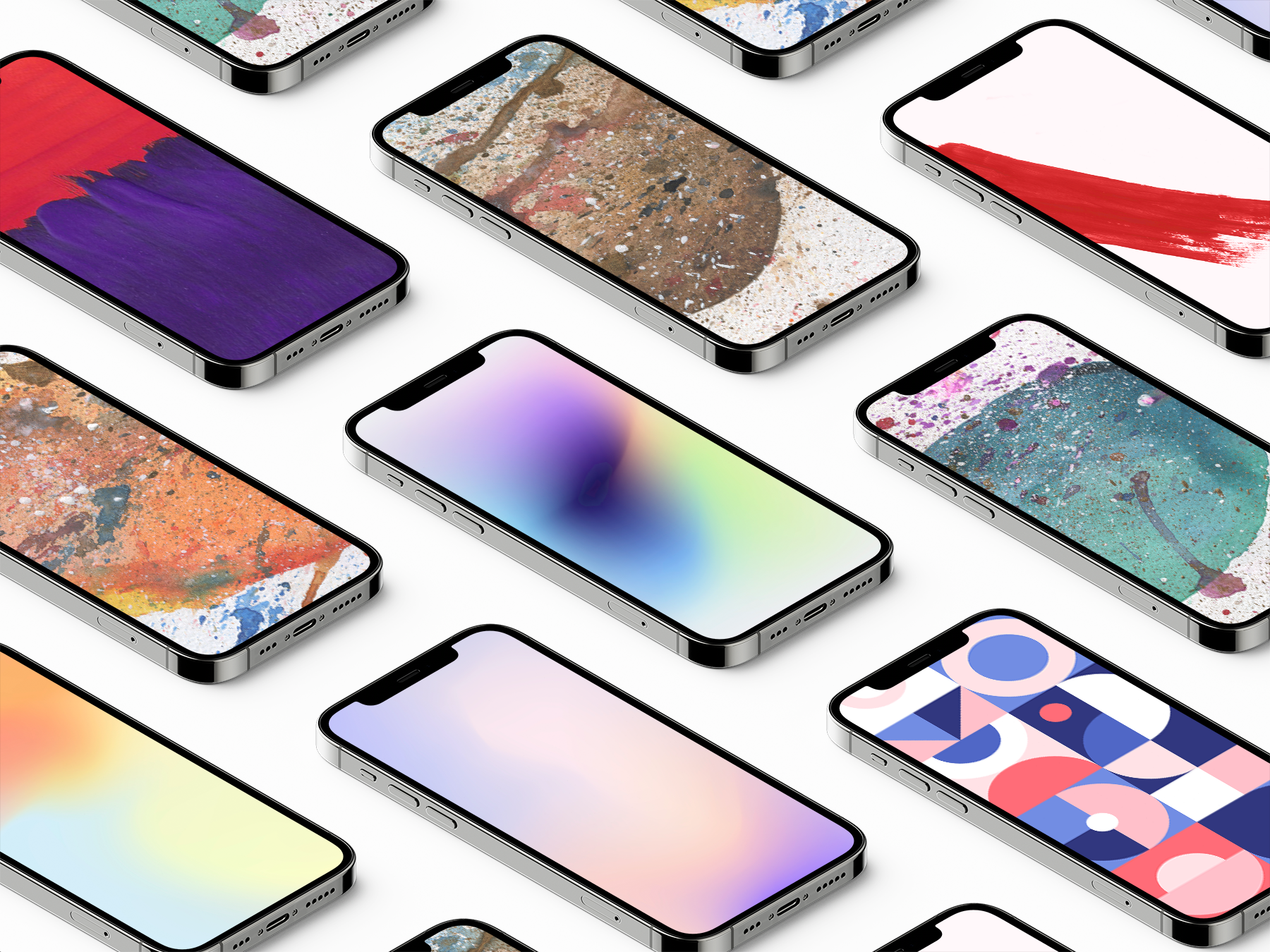 Free Isometric iPhone 12 Pro Mockup
