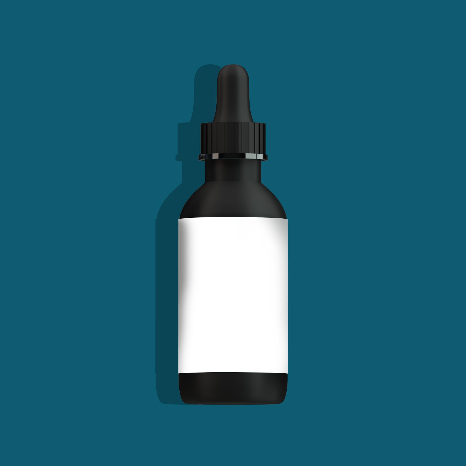 Free Plastic Dropper Bottle Mockup