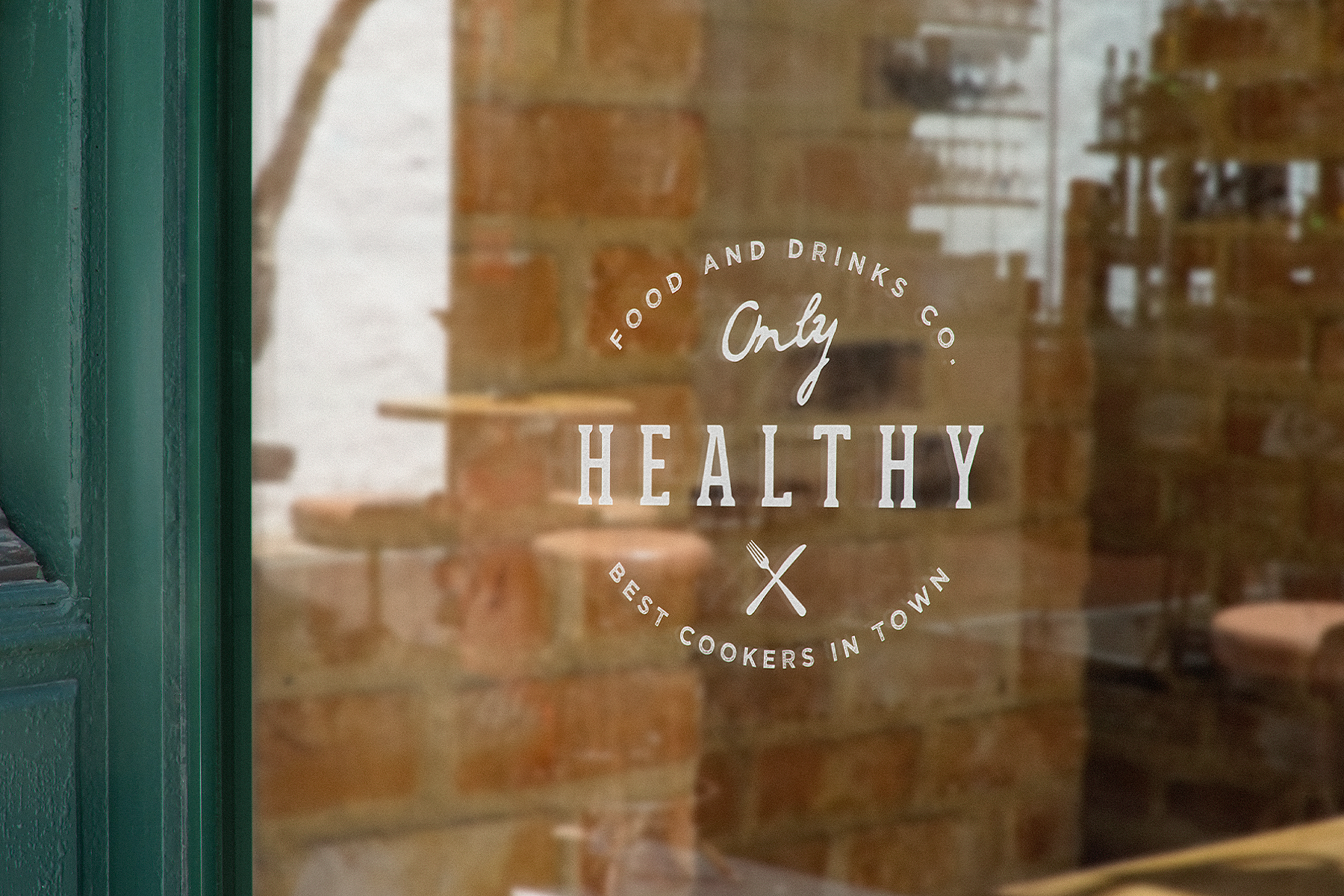 Free Shop Window Logo Mockup