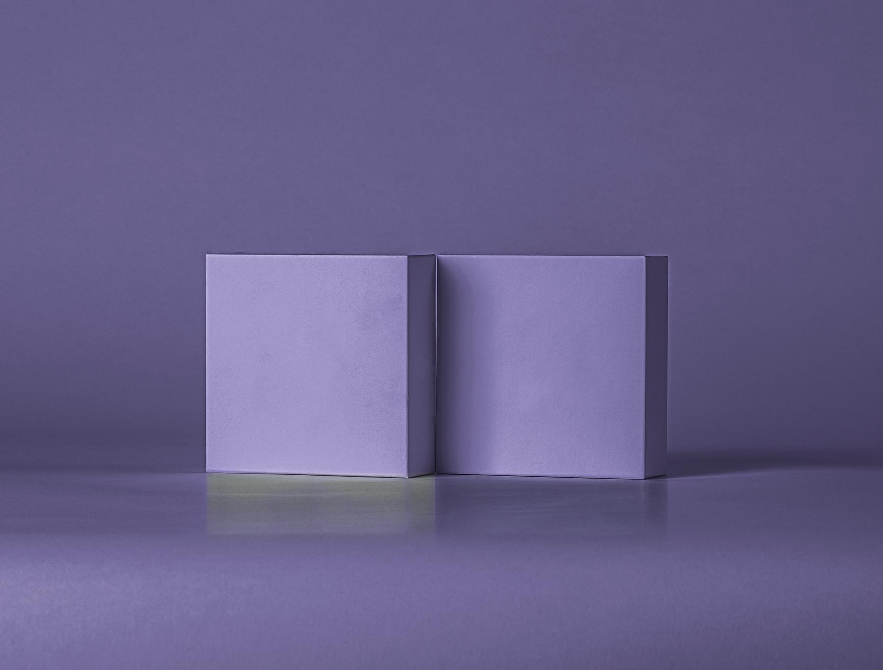Free Small Square Boxes Mockup
