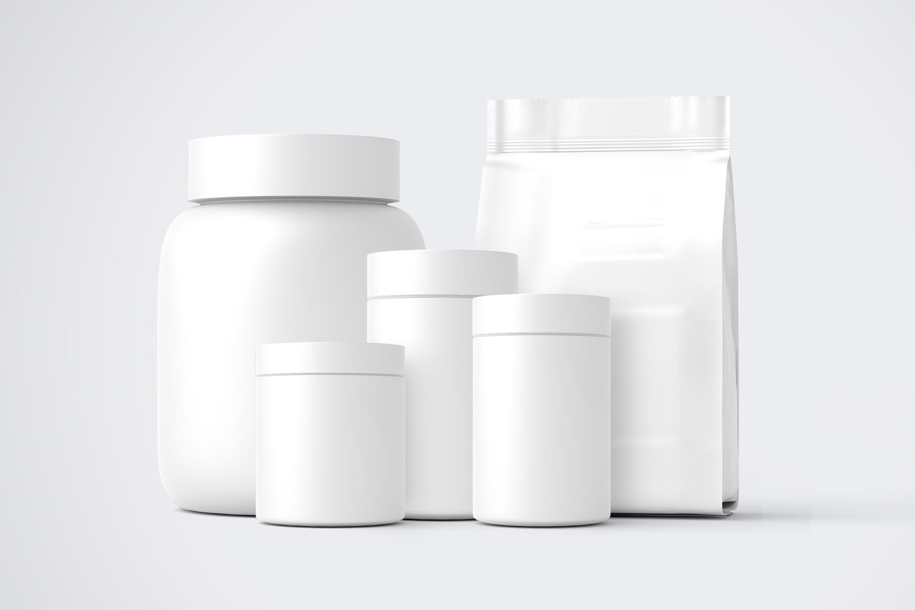 Free Supplement Jar Mockup