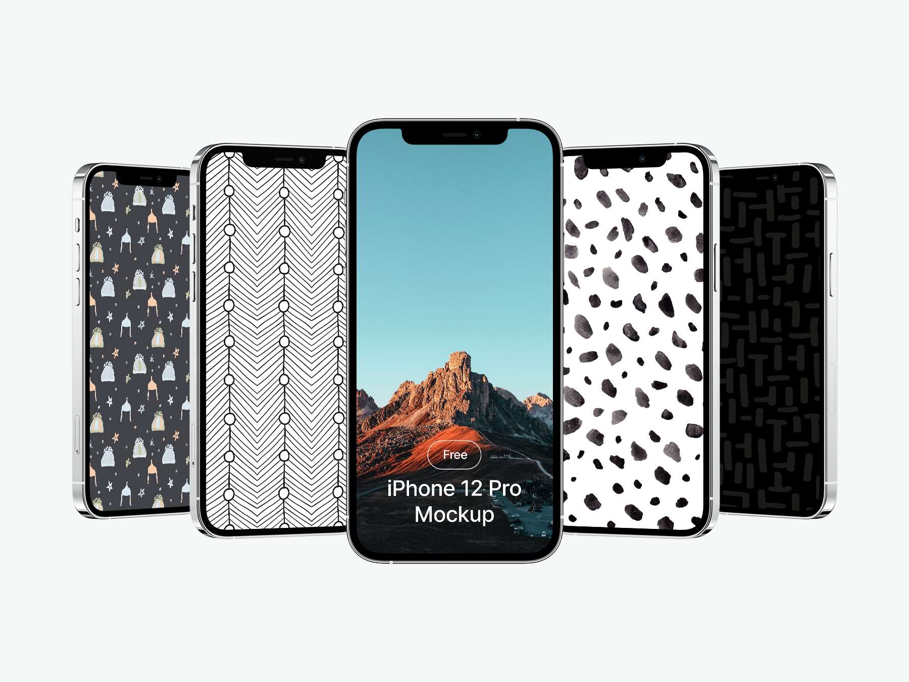 Free iPhone 12 Pro Showcase Mockup
