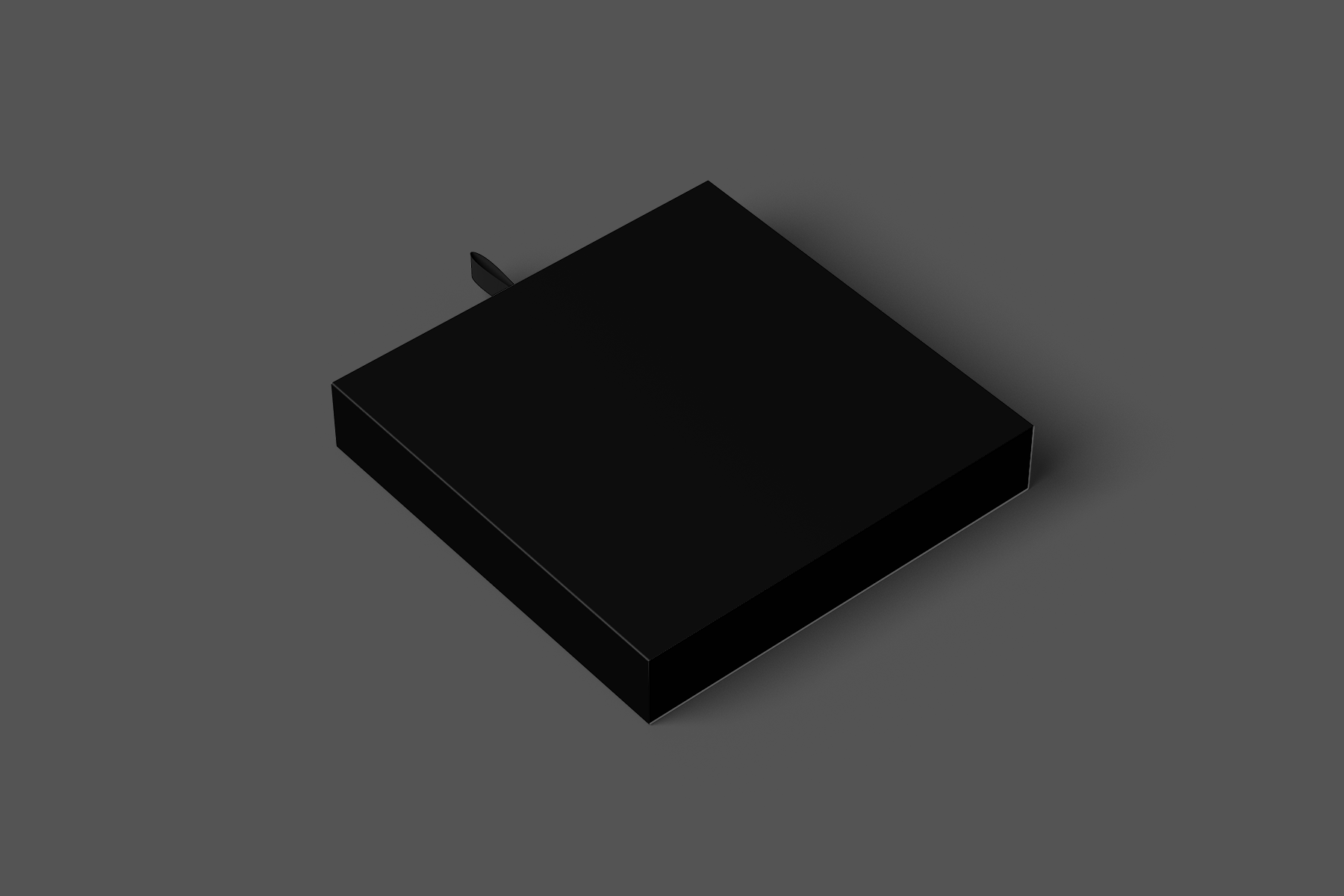 Free Flat Square Box Mockup