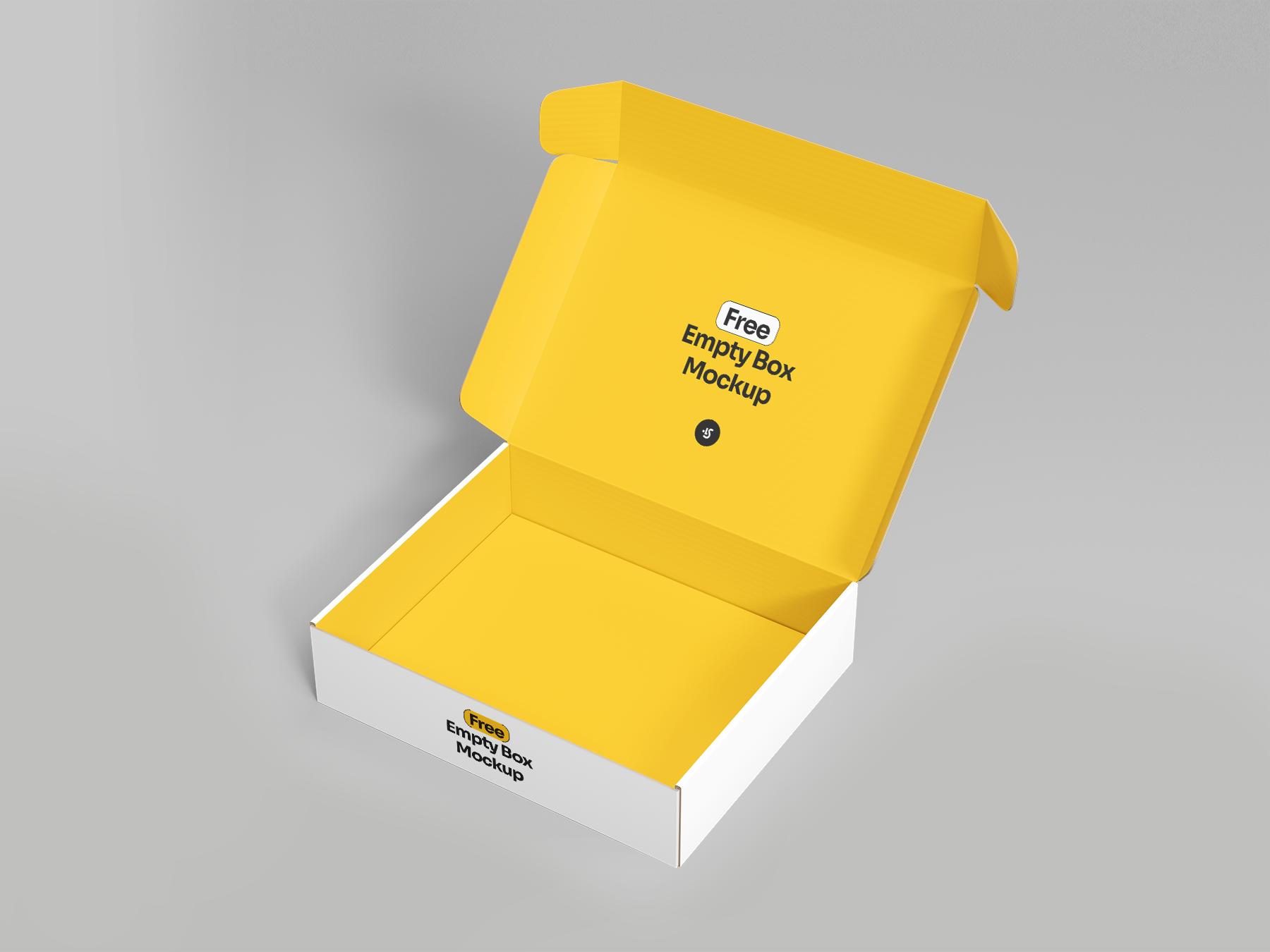 Free Open Box Mockup 1