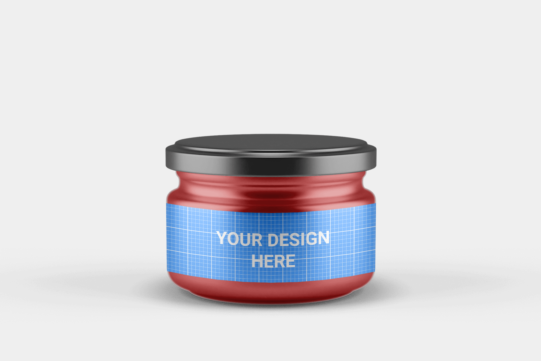 Free Small Glass Jar with Lid Mockup