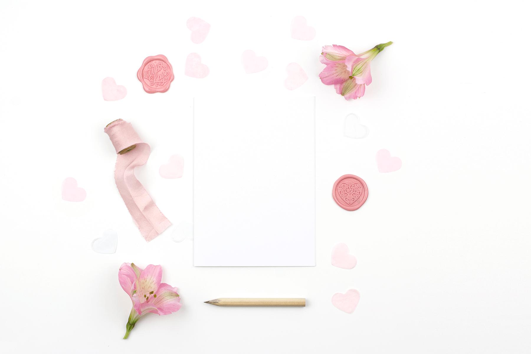 Free Romantic Valentine's Day Card Mockup