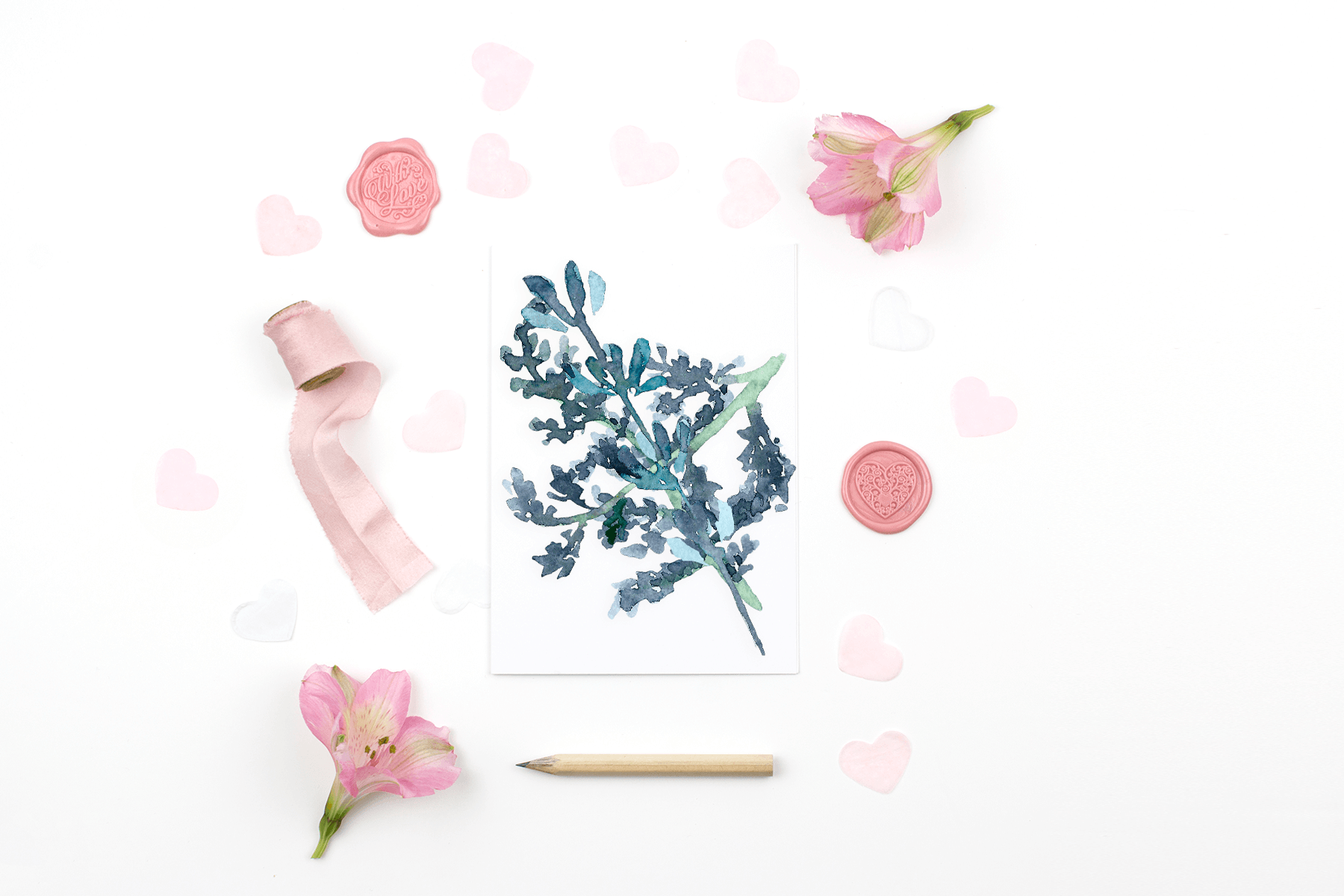 Free Romantic Valentine's Day Card Mockup