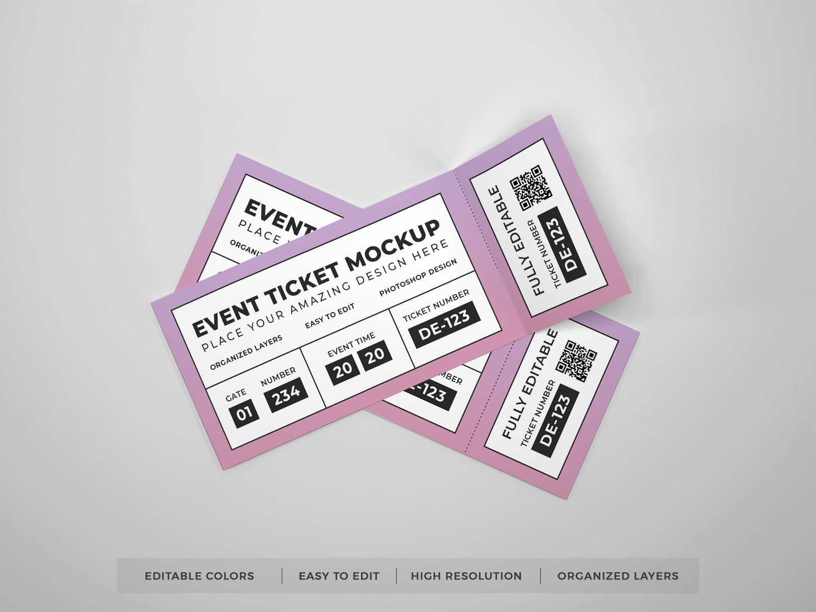 Free Event Tickets Mockup