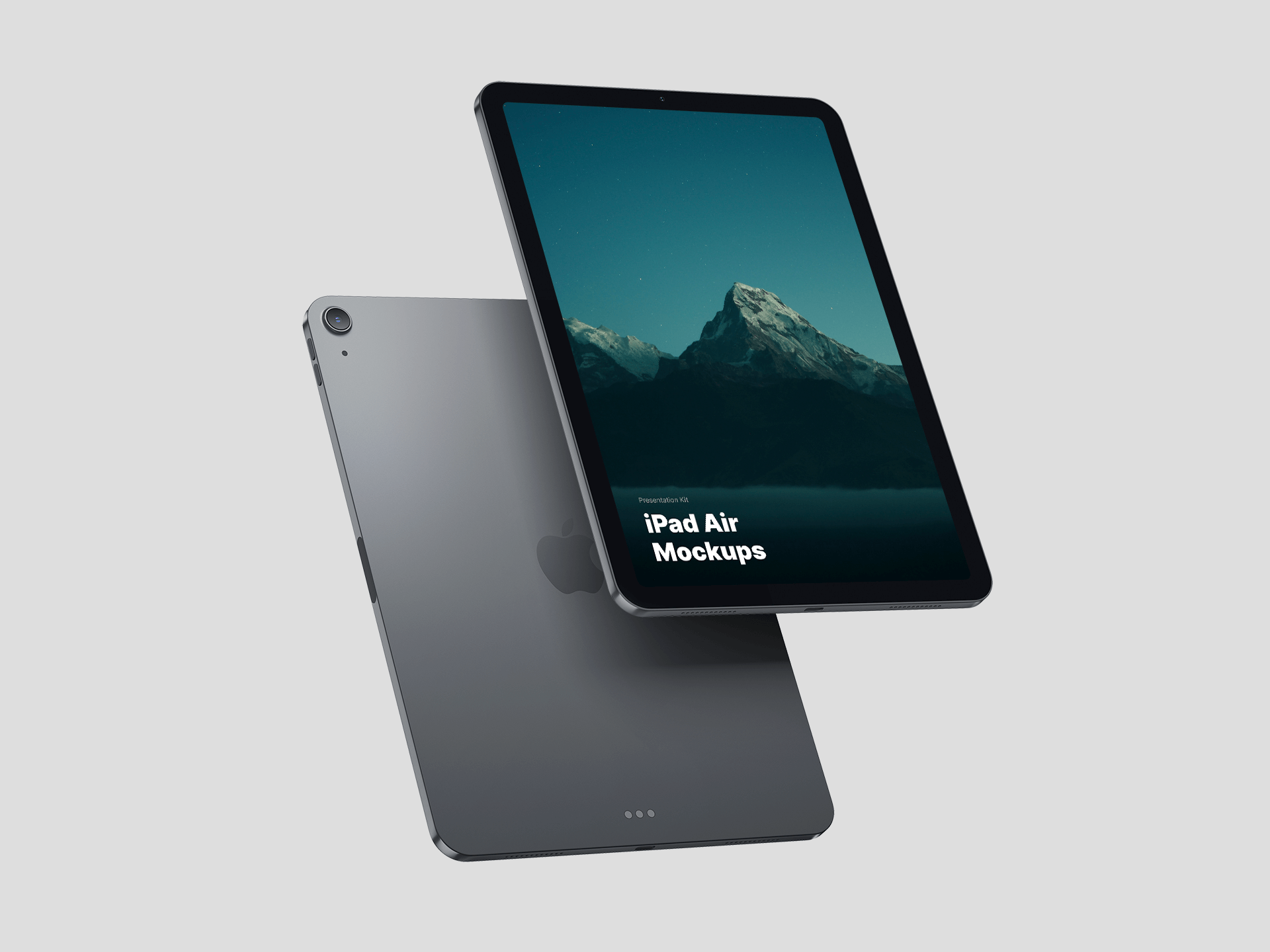 Free Floating iPad Air Mockup
