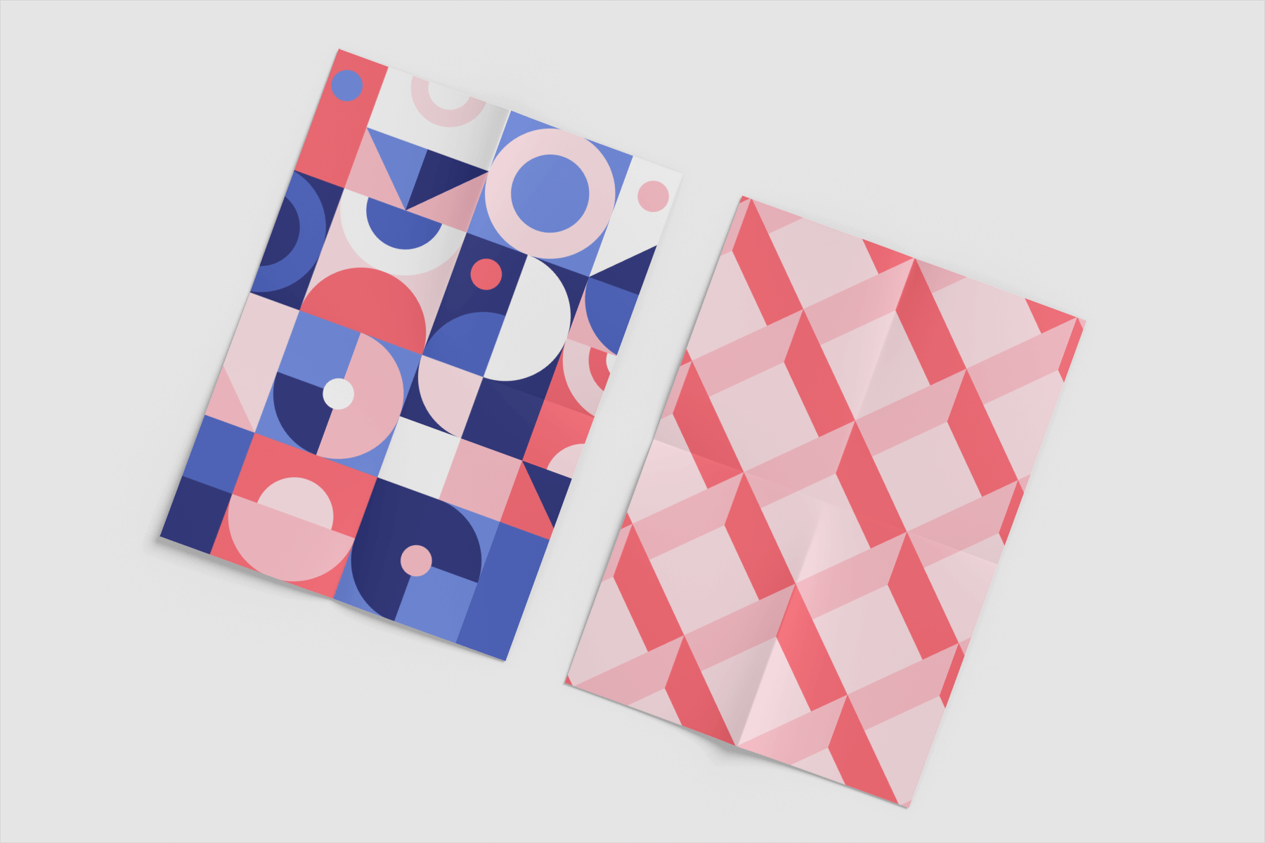 Free A4 Poster with Folds Mockup